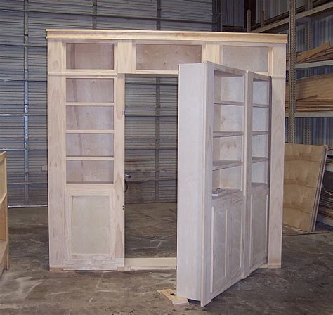 Construction Of A Hidden Door Shelf System To Hide A Secret Closet Door