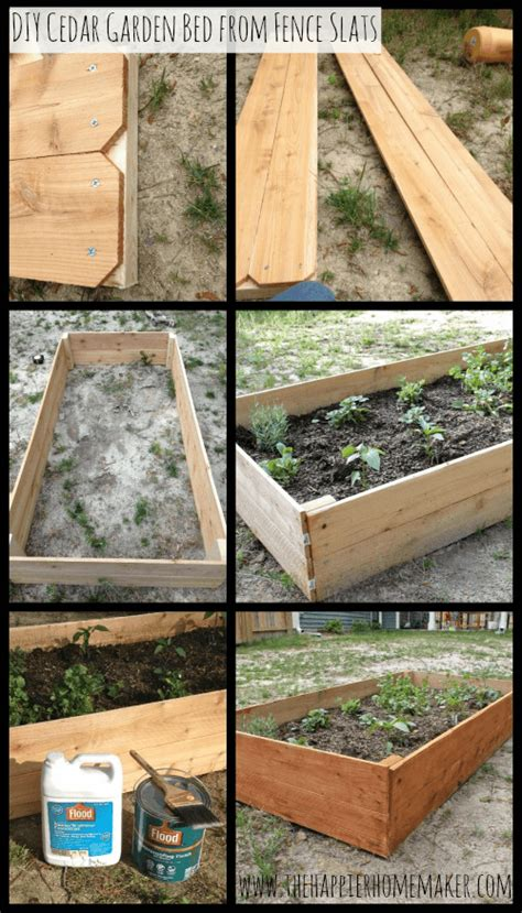 cedar raised garden bed plans diy cedar raised garden bed the happier homemaker