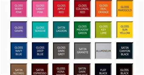 rustoleum color chart spray paint home decoration