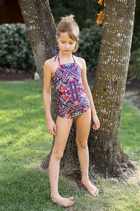 little girl models ages 11 stitched together two cosi swimsuits
