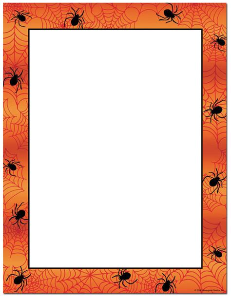 spider webs amp orange border spooky halloween computer
