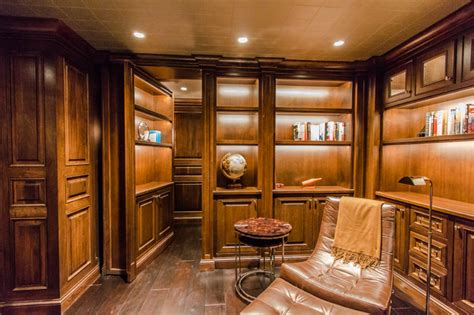 Houzz Com Dining Rooms Home Theater With Secret Room Craftsman Wine Cellar