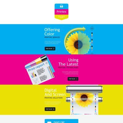 Print Shop Templates Templatemonster Printing Company Website Template