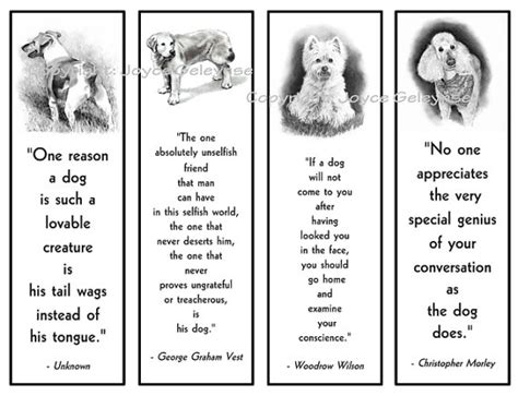 printable bookmarks of dogs printable bookmarks dogs in pencil with quotes about dog
