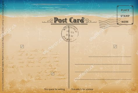 post card template event background 7 vintage postcard templates free psd ai vector eps