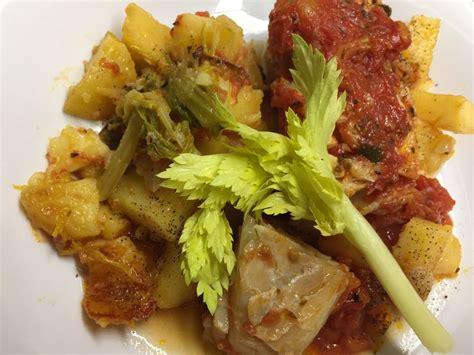 cucinare lo stocco stocco con patate e sedano
