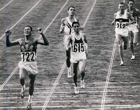 The American Run File Billymills Crossing Finish Line 1964olympics Jpg