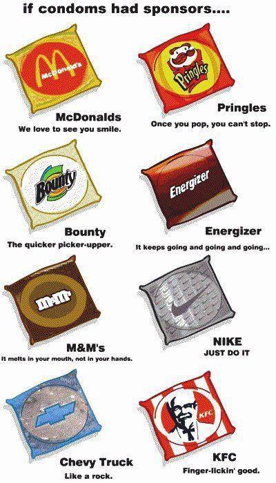 Funny Condom Memes - if condoms had sponsors jokes memes pictures