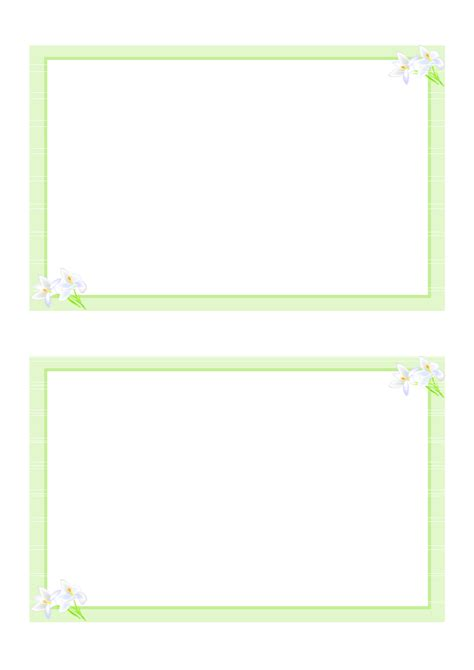 message card template 6 best images of free printable blank note cards