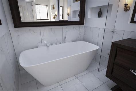 Bathtub Wall by Aquatica Arabella Wall Back To Wall Solid Surface Bathtub