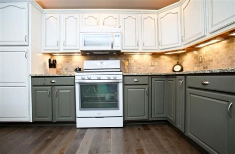 two tone painted kitchen cabinets ideas saomc co two tone grey kitchen cabinets quicua com