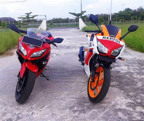 Perbandingan Sparepart Honda Dan Yamaha perbandingan dimensi antara 250 yamaha r25 honda