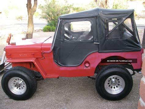 Jeep Soft Doors by Willys Jeep Cj 3b 1953 4wd 6 Volt 4cyl Bestop Soft Top