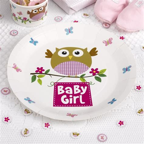 owl baby shower plates and napkins 8 owls paper plates baby shower decoration