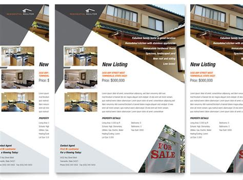 latest real estate flyer template free word sample flyers