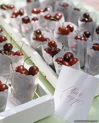 wedding shower favor ideas martha stewart cherry favors