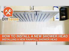 How to install a new shower head - Rainfall Shower Head ... Install Chrome