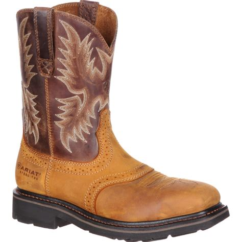 ariat steel toe boots ariat wide square steel toe western boot 10010134
