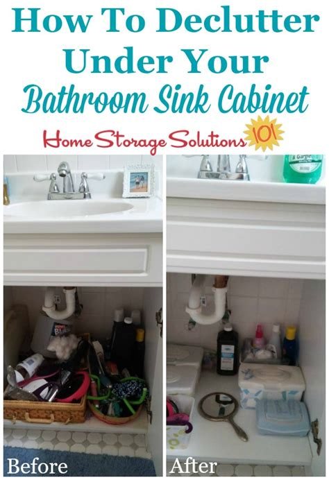 organize bathroom cabinet sink how to declutter bathroom sink cabinets