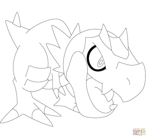 pokemon coloring pages amaura tyrunt coloring page free printable coloring pages