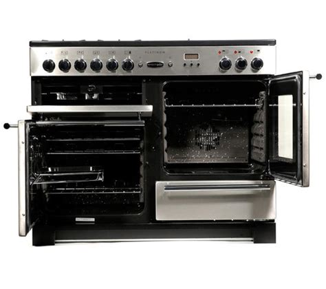 Oven Gas Platinum buy rangemaster platinum 110 dual fuel range cooker stainless steel chrome free delivery