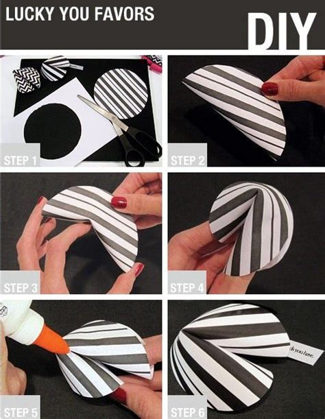 How To Make A Paper Fortune Cookie Step By Step - diy fortune cookie favors craft