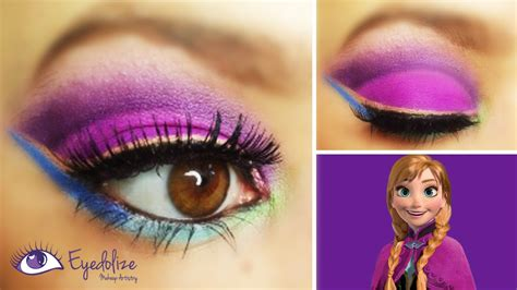 eyeshadow tutorial watch me disney s frozen anna inspired eyeshadow tutorial with