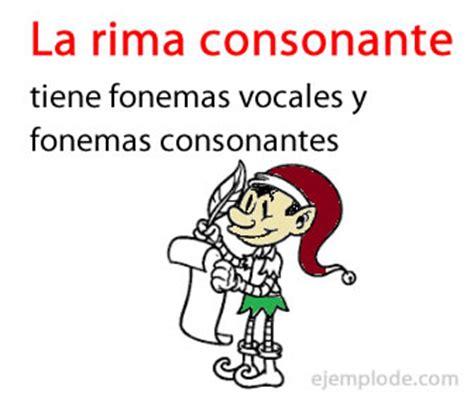 rima interna ejemplo de rima consonante