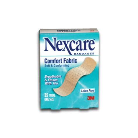 nexcare comfort bandages adhesive fabric bandages to treat everyday cuts and bruises