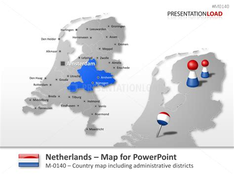 netherlands map powerpoint free presentationload pays bas