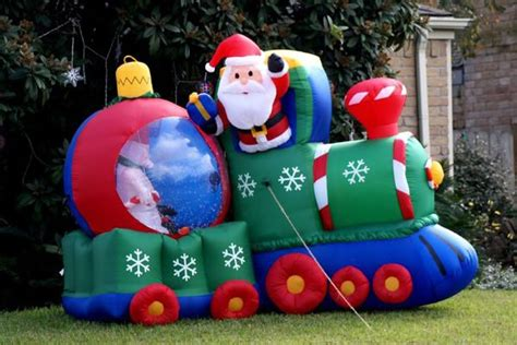 inflatable train outdoor christmas decorations decoist
