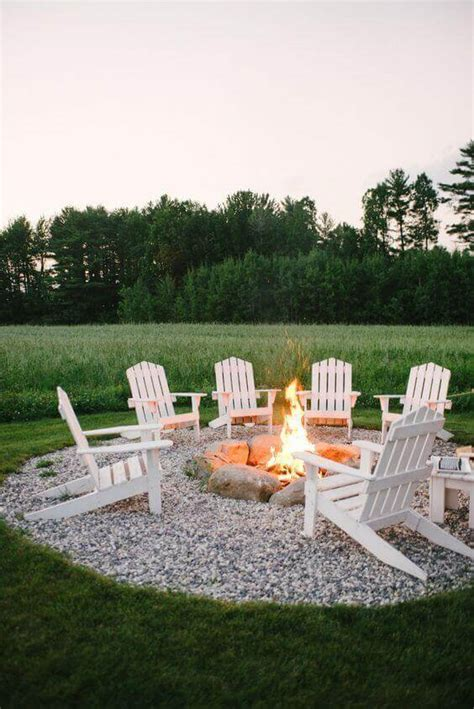 cozy  welcoming backyard design ideas  fire pit