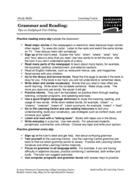 vcc lc worksheets study skills