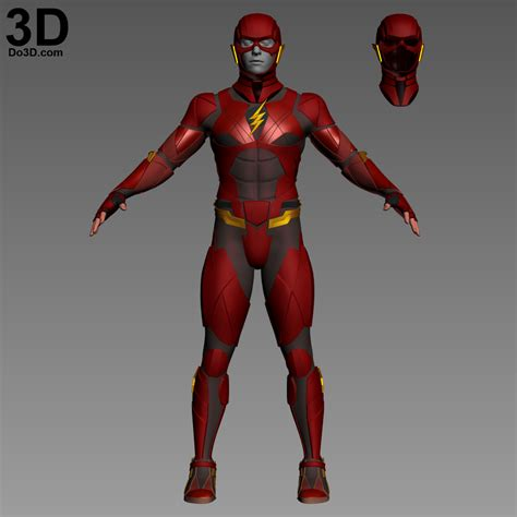 justice a steamy filled bodyguard armor 3d printable model the flash justice league jl