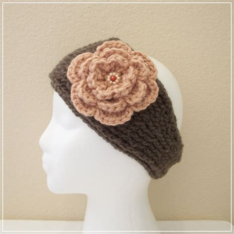 crocheted floral headband 183 how to stitch a knit or 98 best images about knitting ear warmers on