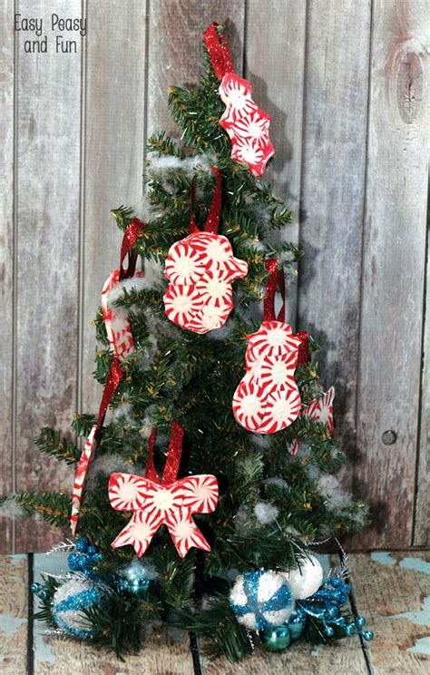 diy ornaments to make peppermint ornaments diy ornaments easy peasy and