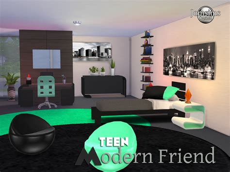 my sims 4 blog stylish modern bedroom set by mxims my sims 4 blog modern friend teen bedroom set by jomsims