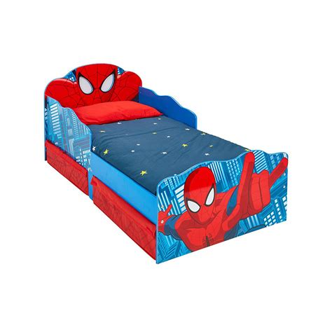 spiderman beds spiderman toddler bed with storage and light up eyes
