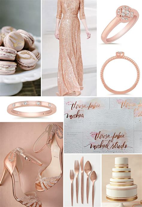 Beautiful Flatware rose gold yellow sapphire inspired fall wedding trends
