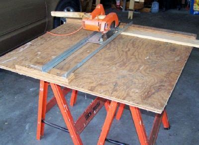 convert portable circular saw to table saw get more from your circular saw