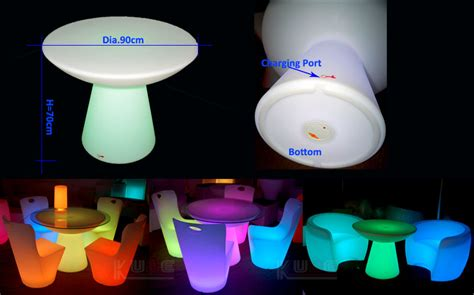 Light Up Dining Table Amazing Colorful Outdoor Led Light Up Plastic Furniture Dining Table Set For Wedding View Led