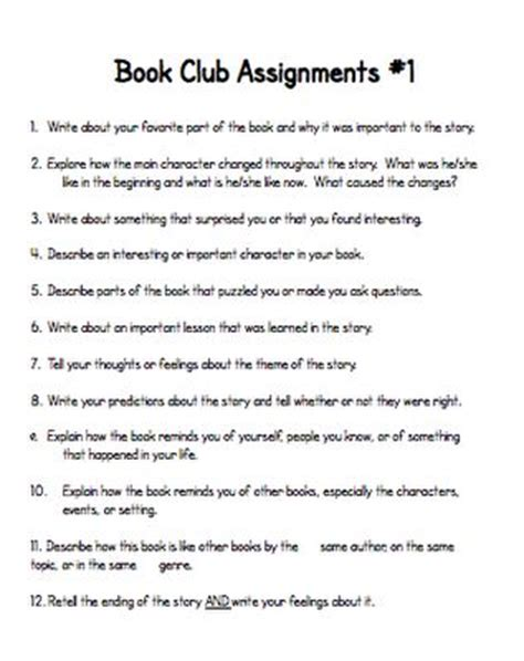 Book Club Worksheets by 17 Best Ideas About Book Clubs On Book Club