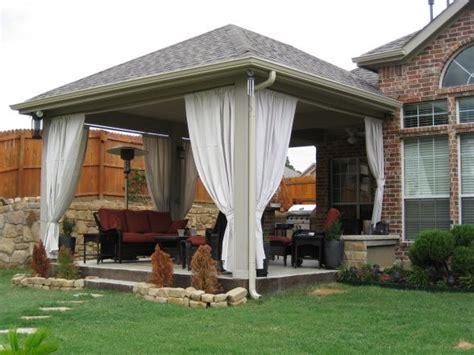 covered patio curtains covered patio 1 arbors pergolas patios pinterest