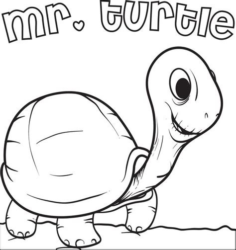 preschool coloring pages turtles free printable mr turtle coloring page for kids