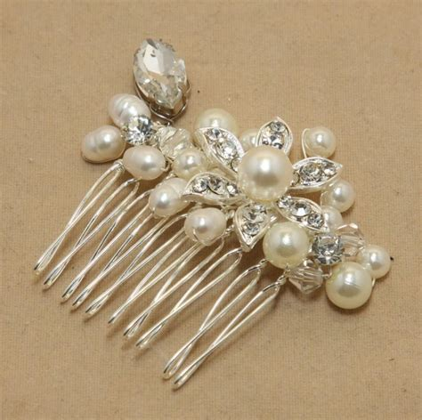 Vintage Inspired Wedding Hair Combs by Vintage Inspired Pearls Bridal Hair Comb Pearl Hair Comb