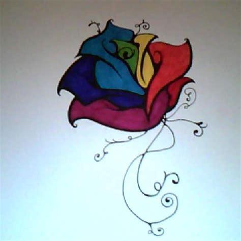 rainbow rose tattoo rainbow by rosemetamorphosis on deviantart