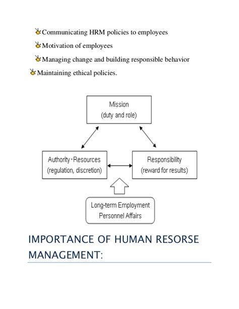 Importance Of Economics In Mba by Significance Of Human Resource Management In Organizations