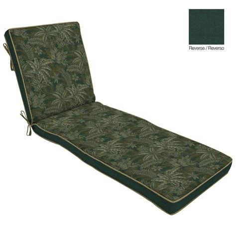 green chaise lounge cushions bombay outdoors palmetto green reversible outdoor chaise
