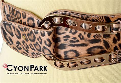 Ikat Pinggang Wanita Motif Flora Brown koleksi ikat pinggang fashion butik shop tas pesta belt wanita cyonpark