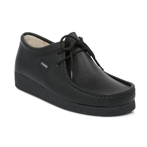 school shoe tower 1000 black napa leather wallaby mens womens school